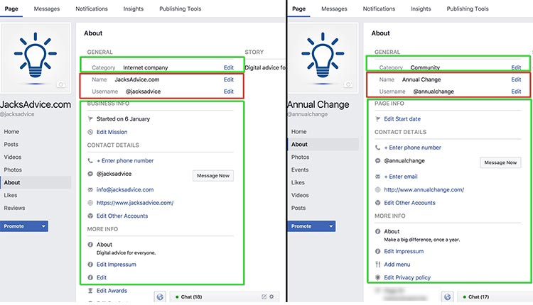 change-facebook-about-us-section | How To Merge Facebook Pages In 4 Easy Steps
